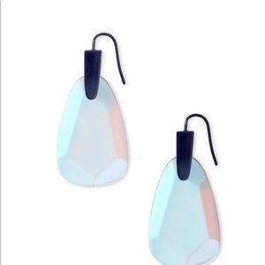 Kendra Scott Marty Earrings Indigo Dichroic Glass